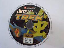 LOT DE 3 BOBINES GRAUVELL Jinza TREK MARRON 100M X3 0.18 mm 12,2 kg 26,8 lb