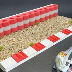 Reifenstapel für Autorennbahnen 1:32 - 1:24 ROT-WEISS - 25 cm Tyre Wall RAS
