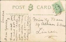 Gertrude Bean. 19 Allison Street, Lincoln. 1905 - Cousin 'Edie'    RH.318