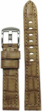 18mm Panatime Cork Natural Classic Leather Watch Band w/ Gator Print 125/75