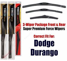 Wiper Blades Trico 3-Pack Front + Rear fits 2011+ Dodge Durango - 25220/210/12A
