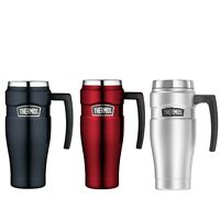 New THERMOS Stainless King S/Steel Vacuum Insulated Travel Mug 470ml with Handle