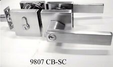 Entrance door lock and deadlock ( satin chrome finish)