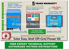 Victron Quattro Solar Easy Wall Off Grid Kit 24V DC to 8000VA 230V 250V MPPT