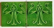 Two beautiful iconic Art Nouveau tiles