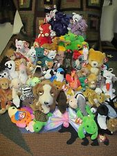 RARE Beanie Baby/Buddy LOT of 64 ALL RETIRED Many with Errors - Collection