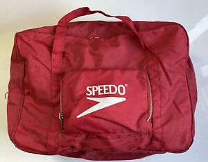 Vtg Speedo Duffle Bag Gym Bag. Red White