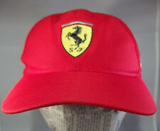 Genuine FERRARI Red Baseball Hat Cap Crest With SF Horse Pennzoil Ultra