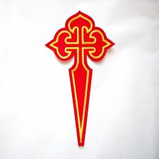 Camino de Santiago Pilgrim St. James Way Large Cross Cloth Patch New