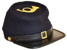 GUERRA CIVILE AMERICANA arruolato Union FANTERIA KEPI Cap Hat & Badge Medium 56/57cms