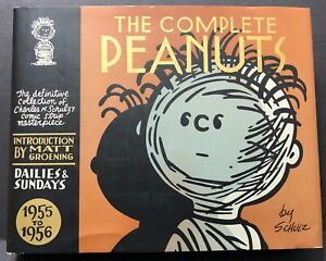 The COMPLETE PEANUTS 1955 to 1956 CHARLES SCHULZ 2005 HC 1st Print 1st Ed. NM