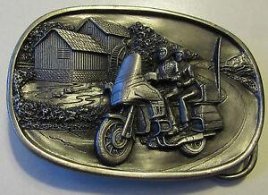 Bergamot Belt Buckle  Motorcycle Touring Ride Cruising Made in USA Brass Works