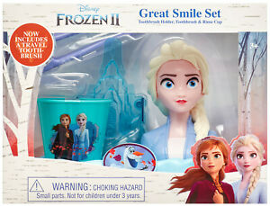 Frozen 2 Elsa Great Smile Set - Toothbrush Holder, Toothbrush & Rinse Cup - 1175