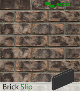 Handmade Brick Slips Tiles Decoration Wall Natural Brick - Antique Smoke Grey