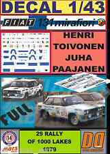 DECAL 1/43 FIAT 131 ABARTH H.TOIVONEN 1000 LAKES 1979 (FULL) (01)