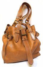 Vintage COUNTRY ROAD thick Tan Leather large Shoulder Bag Hobo Handbag Tote EC!