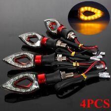 4x 12LED Motorcycle Motorbike Turn Signal Indicators Light Lamp Amber Universal