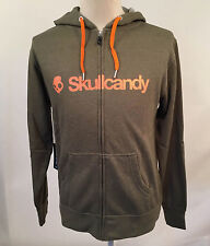 Skullcandy Men's Zip Up Hoodie Heather Olive Green Size M NWT Headphones Earbuds