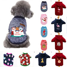Christmas Pet Cat Puppy Dog Clothes Warm Sweater Hoodie Coat Jacket Clothing