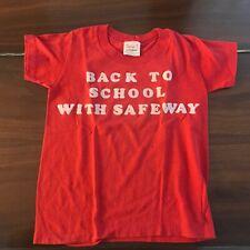 Vintage Childrens Safeway Tshirt 1970's