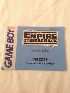 Game Boy Star Wars The Empire Striker Back Instruction Booklet