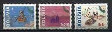 37179) BOLIVIA 1992 MNH** Christmas 3v