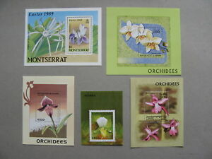 TOPIC FLOWERS ORCHID, 5x S/S MNH