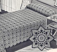 Vintage Crochet Pattern Bedspread Snow in Summer Motif