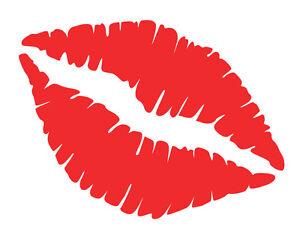 Lips Decal Sticker Sexy Kiss Mark Hot & Soft Pink, Red, Wall & Car Bumper Window