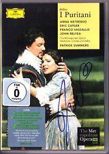 2.DVD Anna NETREBKO Signiert BELLINI I Puritani VASSALLO MET John Relyea Summers
