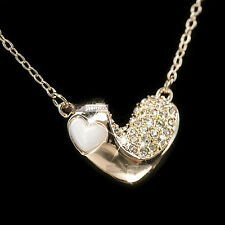 18k rose gold made with SWAROVSKI crystal heart pendant wedding necklace
