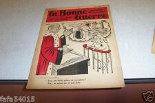 REVUE SATIRIQUE LA BONNE GUERRE 11 janvier 1936 CARB