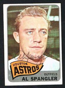 Al Spangler #164 signed autograph auto 1965 Topps Baseball Trading Card