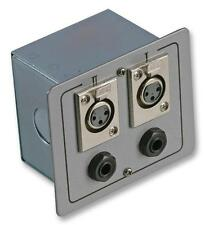 CONNECTION BOX 2X XLR S+ JACK - Wall Plates and Floor Boxes - Audio Visual