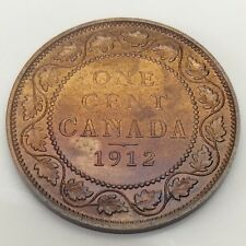 1912 Canada Copper Large One 1 Cent Penny Varnished Canadian Coin F504