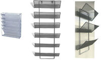 Mesh wall literature holder magazine hanging file 3/5/6 Tier Home/Office use