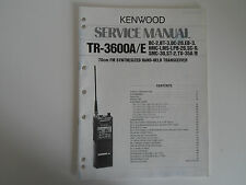 KENWOOD TR-3600A/E (GENUINE SERVICE MANUAL ONLY).........RADIO_TRADER_IRELAND.