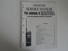 KENWOOD TR-3600A/E (solo MANUALE originale Service)... RADIO _ Trader _ Irlanda.