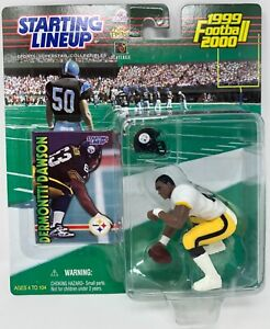 1999 KENNER STARTING LINEUP NFL DERMONTTI DAWSON PITTSBURGH STEELERS MOC
