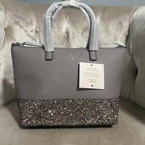 Kate Spade Small Greta court Ina Glitter Crossbody Bag Handbag Purse City Scape