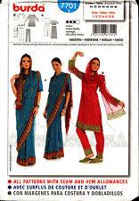 Burda Sewing Pattern 7701 Burda Womens Indian Dress