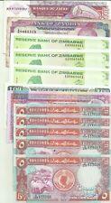 AFRICA LOT 12 NOTES. ZIMBABWE-LIBERIA-ZAMBIA-SUDAN. 9RW 21ABRIL