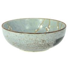 """Japanese Rice Bowl Soup Salad Snack 6""""D Porcelain Grey Ume Blossom Made in Japan"""