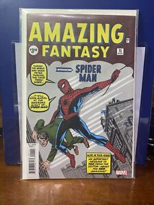 AMAZING FANTASY #15 1ST SPIDERMAN STAN LEE MARVEL LOOT CRATE REPRINT NM