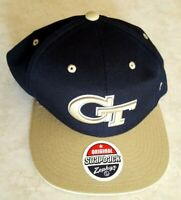 Georgia Tech Yellow Jackets Hat Snapback Zephyr Embroidered Raised Logo Cap New