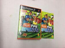 EYE TOY PLAY SPORTS PS2 PLAYSTATION 2 PAL USATO