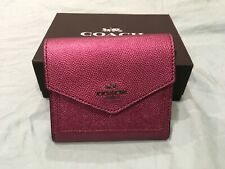 AUTHENTIC COACH SMALL WALLET -  STUNNING PINK