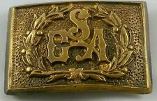 CIVIL WAR CSA CONFEDERATE STATES OF AMERICA REPRODUCTION BRASS BELT BUCKLE