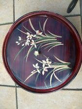 Japanese Lacquer Ware Covered Divided Turntable Serving Dish