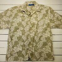 Vintage Ocean Pacific Op Button Shirt Mens Large Floral Aloha Hawaiian SB312